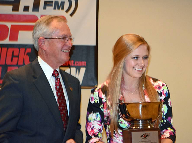 Courtney Adams Chesapeake Female Athlete-of-the-Year 2015