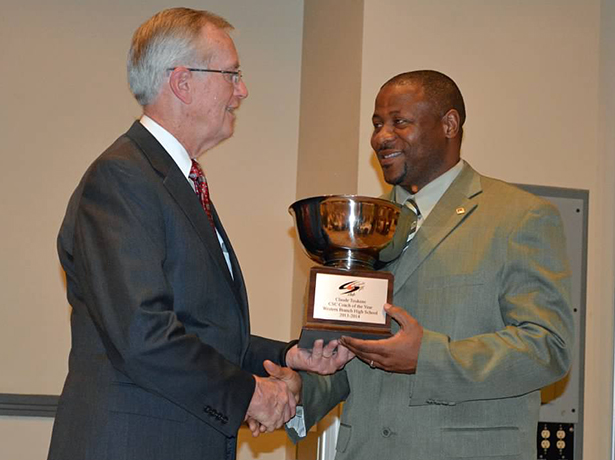 Claude Toukene Chesapeake Coach-of-the-Year 2015