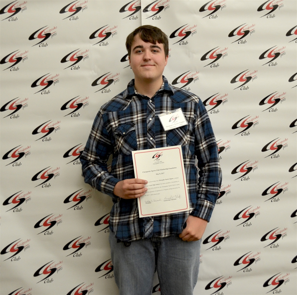 Scholarship Awardee Christopher Austin Clayton, Deep Creek