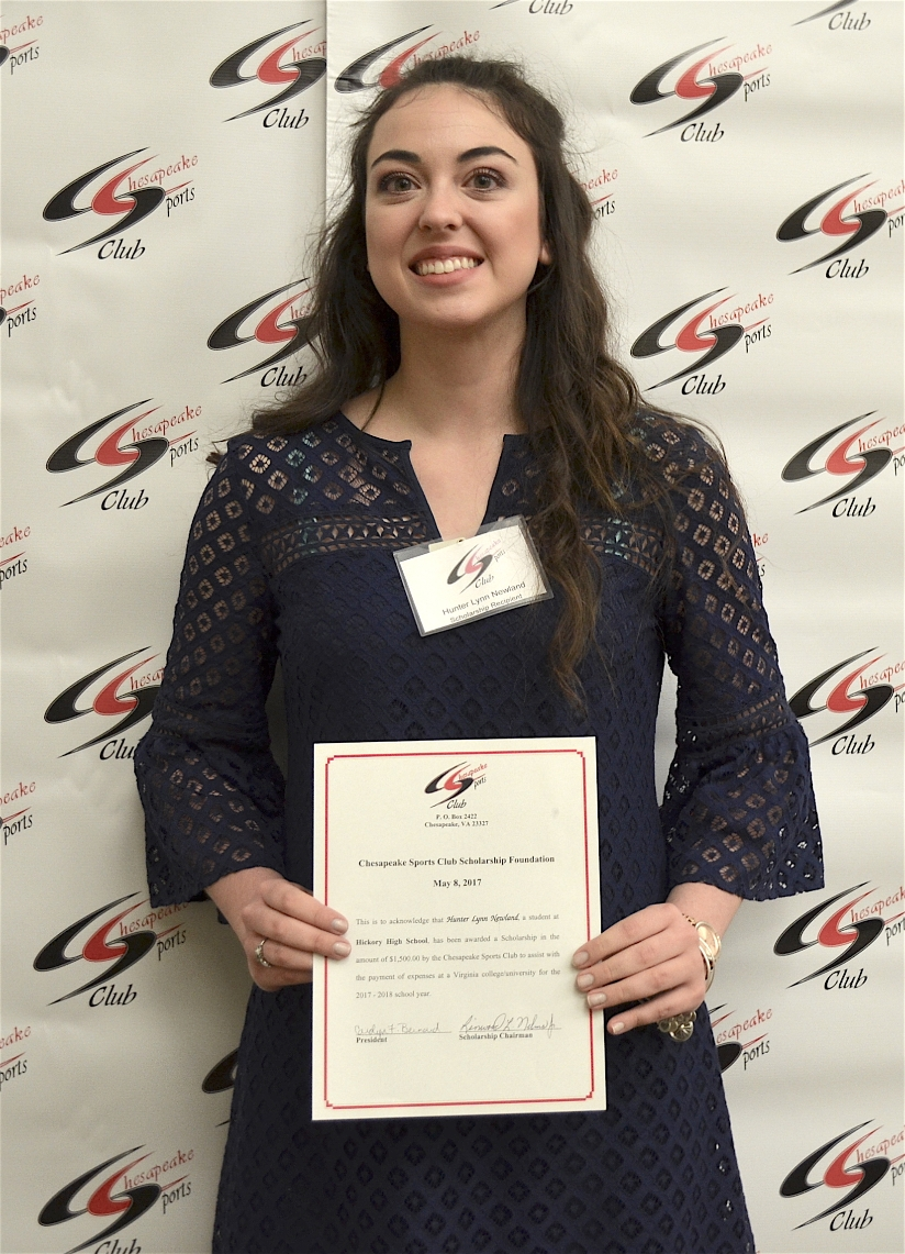 Scholarship Awardee Hunter Lynn Newland, Hickory